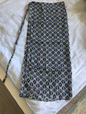 Wraparound Skirt white-blue