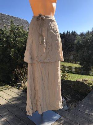 Falda cruzada beige Algodón