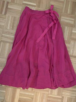 H&M Wraparound Skirt violet-pink lyocell