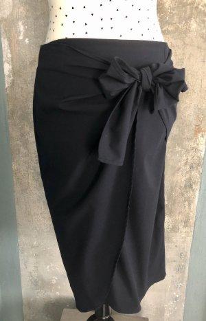 Liviana Conti Wraparound Skirt dark blue