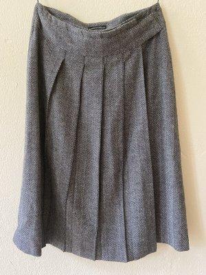 Strenesse Plaid Skirt natural white-black wool