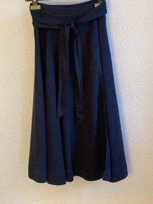 Bellerose Jupe corolle bleu foncé coton
