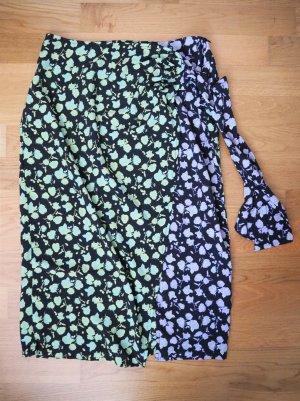 Glamorous Wraparound Skirt black-purple