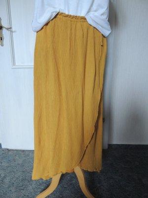 CARE LABEL Wraparound Skirt yellow viscose