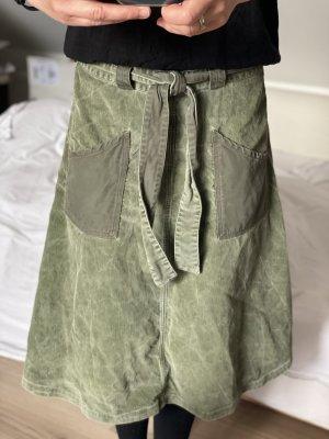 Diesel Falda cruzada gris verdoso-caqui