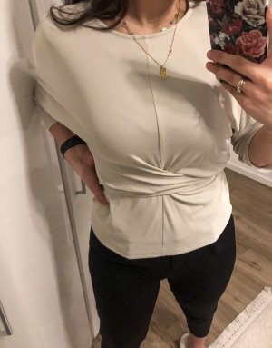 Mango Wraparound Shirt light grey