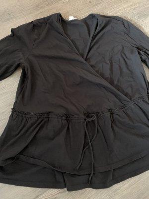 H&M Wraparound Blouse black