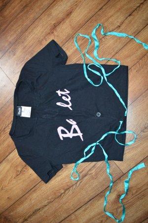 Dolce & Gabbana Camisa cruzada negro-rosa
