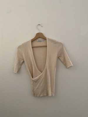 Wickelshirt in Creme Farbe