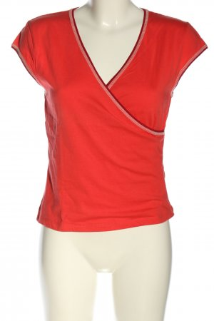 Wraparound Shirt red casual look