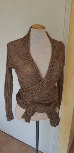 Knitted Wrap Cardigan brown
