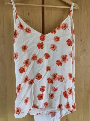 Zara Basic Top schiena coperta multicolore