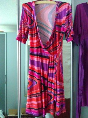 H&M Kopertowa sukienka Wielokolorowy Wiskoza