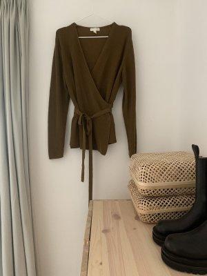 H&M Gilet tricoté ocre