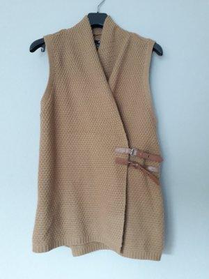 H&M Smanicato lavorato a maglia marrone chiaro