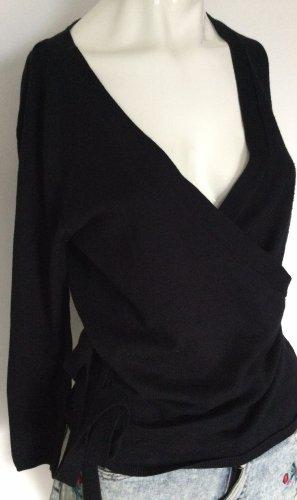 Zara Knit Cache-cœur en tricot noir
