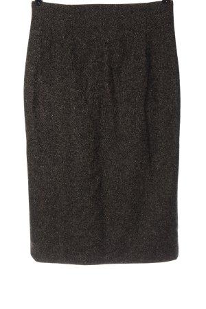 Widax Jupe tricotée brun moucheté style d'affaires