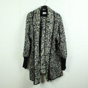 widda Cappotto a maglia nero-bianco