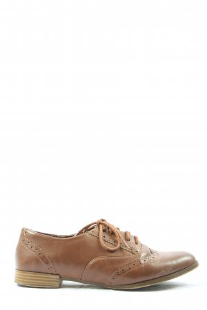 wide fit Wingtip Shoes brown casual look