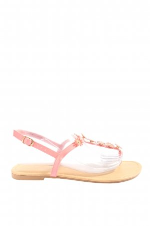 wide fit Flip flop sandalen bloemenprint casual uitstraling