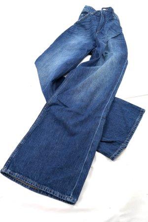 H&M DENIM Jeans large bleu coton
