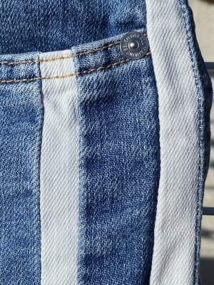 7 For All Mankind Marlene Denim cornflower blue-white