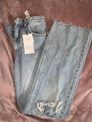 Zara Workowate jeansy Wielokolorowy