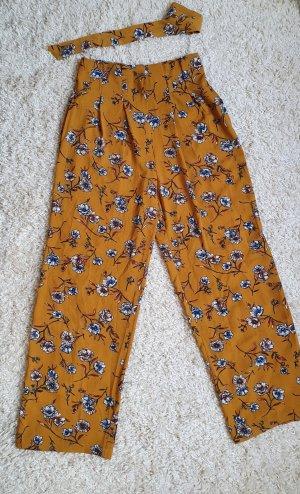 Only Pantalón de cintura alta naranja dorado
