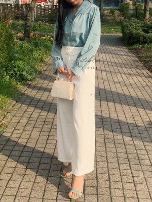Culottes white-natural white