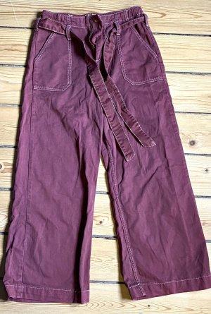 Wide Leg Hose mit Bindegürtel
