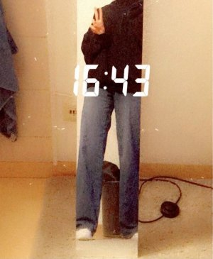 Shine Baggy Jeans multicolored