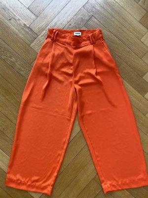 Weekday Spodnie Marlena pomarańczowy neonowy