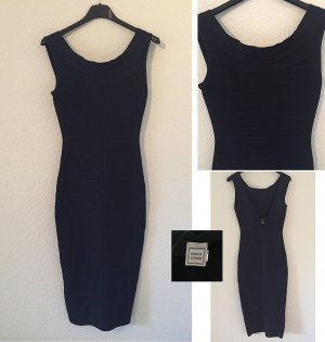 wie NEU 36 S ♥ HERVÉ LÉGER ♥ Original Luxus Stretch Bandage Kleid Blau ♥ Stretchkleid ♥♥ Hammerpreis ☆ ☀ ♥ DIE BESTEN SCHNÄPPCHEN - JETZT MEGA REDUZIERT ☆ ☀ ♥