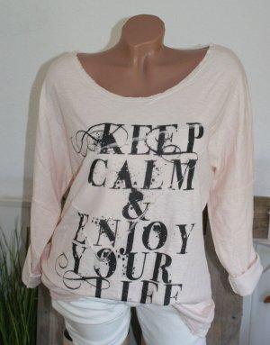 wie neu!!! 38/40 ITALY stylisches Statement Pullover Shirt ~ traumweich ~ ☆ ☆ DIE BESTEN SCHNÄPPCHEN - JETZT MEGA REDUZIERT ☆