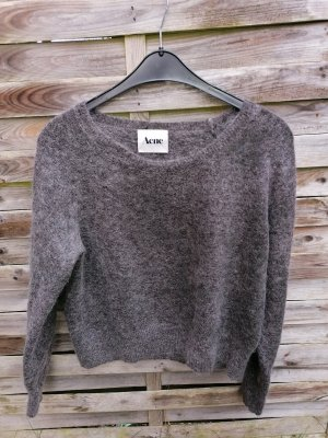 Acne Knitted Sweater silver-colored wool