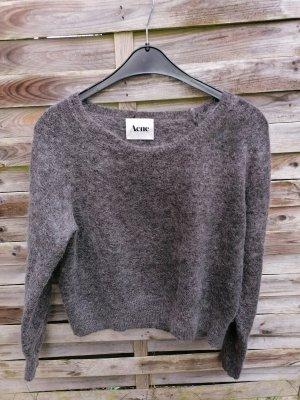 Wie Neu Acne Pullover Wolle 34 % Mohair 34 % Grau weich gr M L