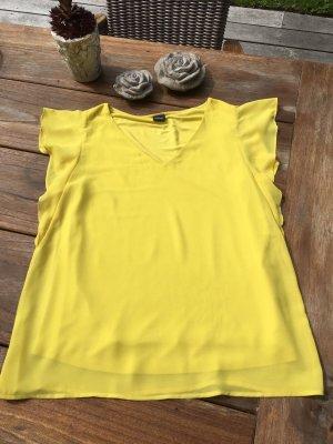 Wie Neu Blusenshirt S.OLIVER Gr. 36 gelb Bluse T-Shirt