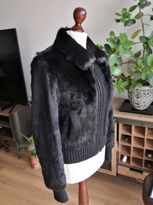 Mango Pelt Jacket black