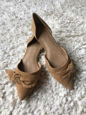 Aldo Ballerinas with Toecap cognac-coloured leather