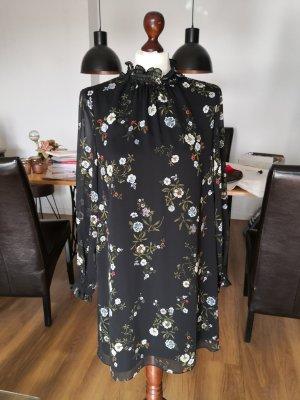H&M Chiffon jurk veelkleurig Gemengd weefsel