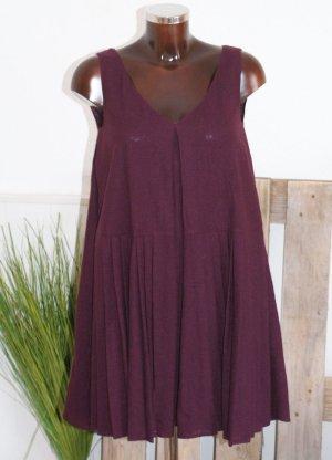 Prada A Line Dress blackberry-red wool
