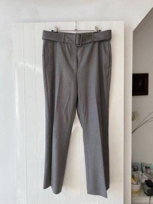 Fabiana Filippi Pantalon 7/8 gris brun laine