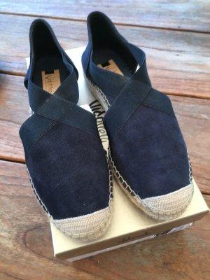 Wie NEU Espadrilles VIDORETTA Gr. 37 blau Leder Wedges Sandalen
