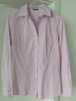 [WIE NEU] ETERNA # Langarm-Bluse # Stretch # Modern Classic # Slim Fit # Größe 38 # hellrosa-weiß