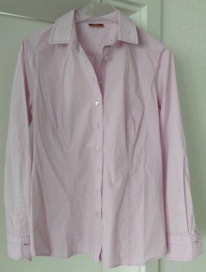 [WIE NEU] ETERNA # Langarm-Bluse # Stretch # Modern Classic # Slim Fit # Größe 38 # rosa-weiß