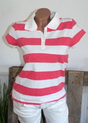 Tommy Hilfiger Camiseta tipo polo blanco-rojo claro