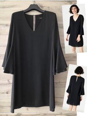 Wie NEU – Hallhuber - Luftig leichtes Kleid mit Volant-Ärmeln – schwarz – 36 – NP100€