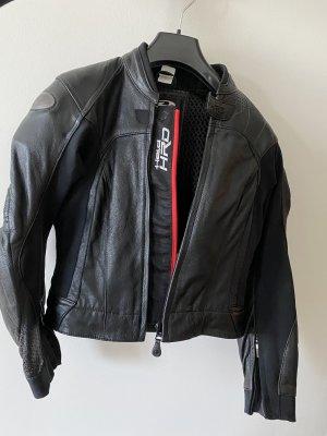 Bikerjack zwart-rood Leer