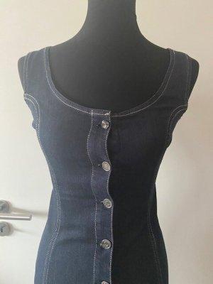 Liu jo Robe en jean bleu foncé coton