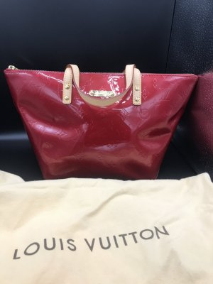Louis Vuitton Handbag dark red-brick red leather